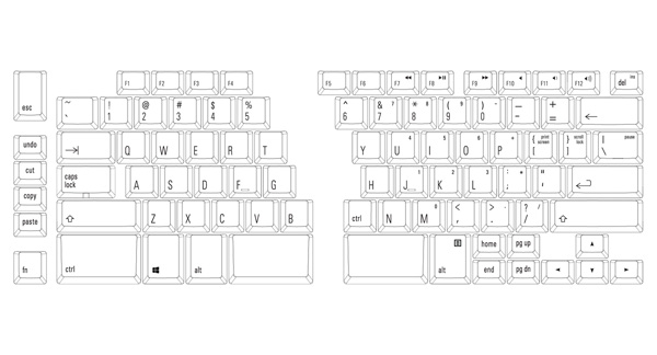 Here's the layout of the US version of the Ergo Pro.