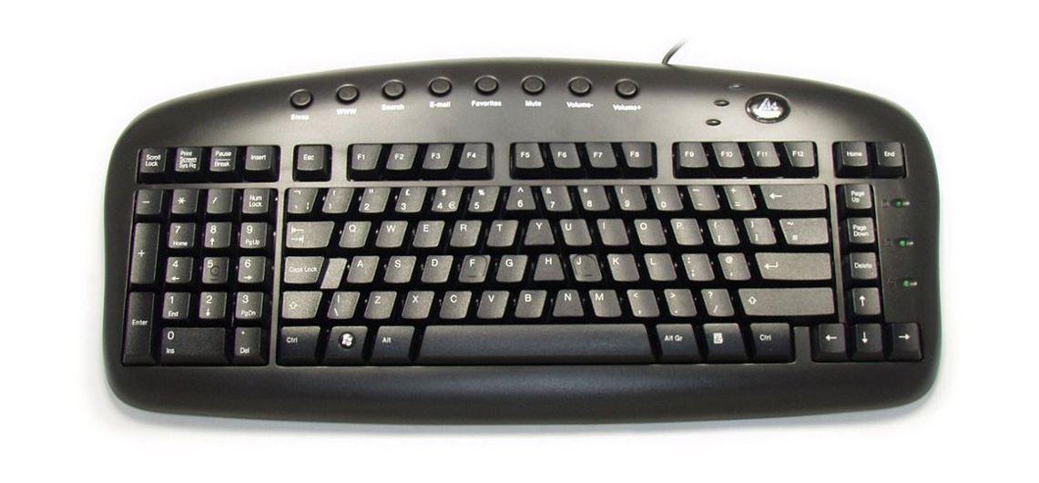 black_left_handed_keypad_keyboard_large