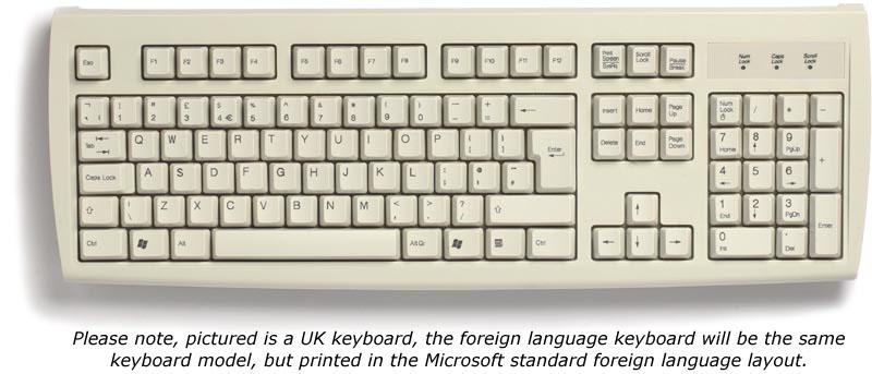 KB2971-GREEK - Greek keyboard, beige, PS/2, Data Sheet