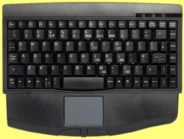 KBC-1540TP-BP - Mini keyboard, Black, PS/2 with built in Touchpad