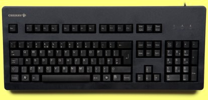 G80-3000LSCGB-2 - Superior Gold Contact, Click Action Keyboard, Black