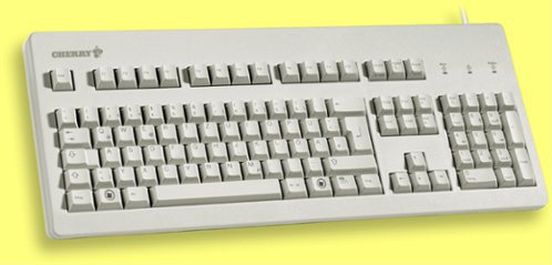 G80-3000LPCDE-0 - German Superior Gold Contact, Linear Action Keyboard, Beige