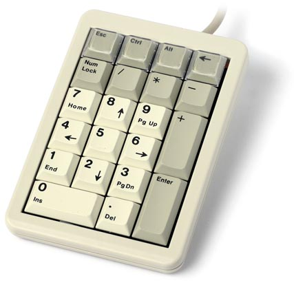 KBC-3700 - Programmable keypad, beige with pass thru port