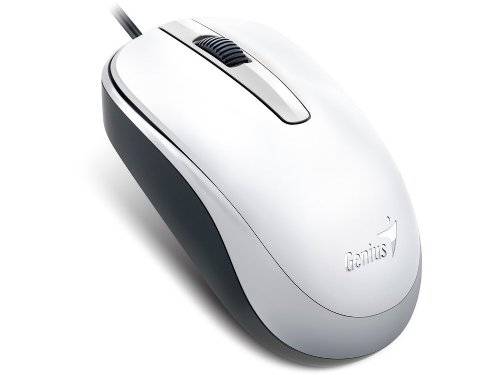 31010105102 - Classic White Optical Scroll Mouse USB