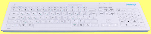 CK3-17 - Cleankeys Glass Easy Clean Medical Keyboard