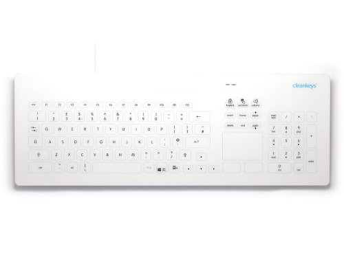 CK4-17 - Cleankeys Glass Easy Clean Medical Touchpad Keyboard