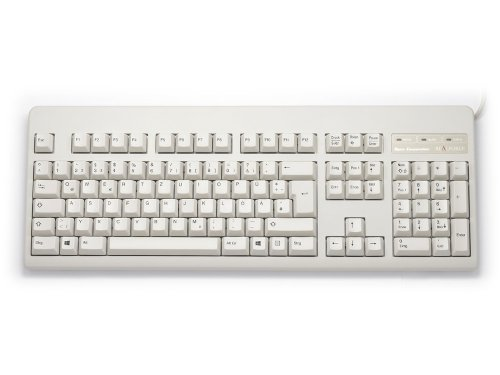 WE7100 - German Topre Realforce 105U 45g Black on Beige Keyboard