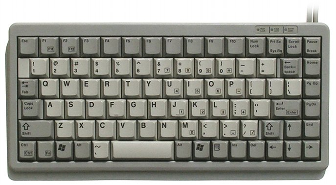 Kbc 4100g Usa Cherry Mini Keyboard Grey Ps 2 Usa