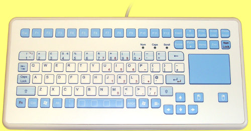 KS21217 - InduKey InduMedical - Rugged Keyboard with Antimicrobial Surface and Touchpad IP65