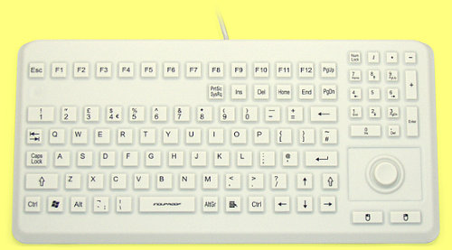 KG21218 - InduKey Induproof Advanced - Compact Silicone Keyboard with Mouse Button IP68