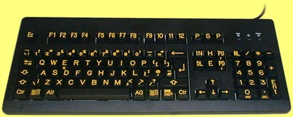 VIG-G80-3000YB - Best Quality, High Visibility, Yellow on Black Keyboard