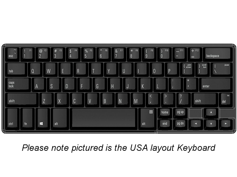 FK602QPC-DE - German Matias 60% Quiet Click PC Keyboard