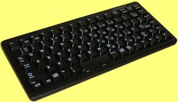 KBC-4100B - Cherry mini keyboard, black, PS/2 and USB