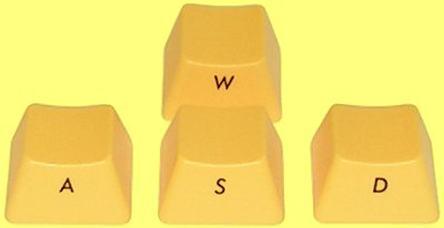 WEB198 - Filco Yellow Ninja WASD Keys for Cherry MX Switches