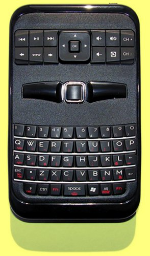 KBC-3205RFM - Palm Sized Wireless Remote, BlackBerry Style Mouse and Keyboard