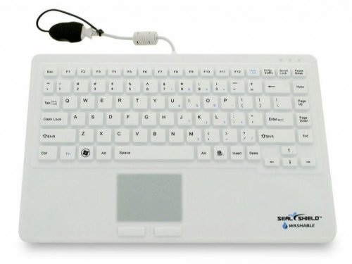 SW87PUS - SEAL TOUCH Silicone All-in-One Keyboard with Touch Pad White