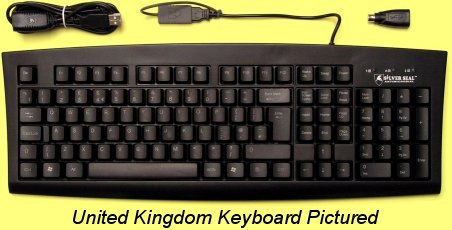 SSKSV107US - SILVER SEAL USA Keyboard, Antimicrobial and Washable