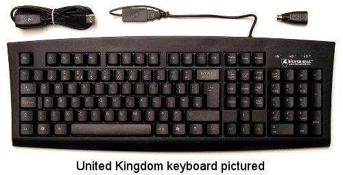 SSKSV108DE - SILVER SEAL German Keyboard, Antimicrobial and Washable