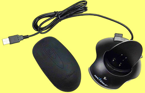 SSM3W - Silver Seal Wireless Optical Rechargeable Mouse Black Antimicrobial