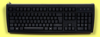 KBC-105BLANK-BUSB - Standard Keyboard with 100% Blank Keys, Black USB