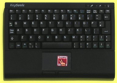 KBC-340RF - Wireless super mini keyboard with built-in touchpad