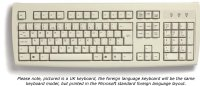 Chinese keyboard, beige, USB