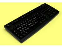 Large print, black, Cherry keyboard, USB