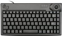 Mini keyboard, Black, PS/2 with built in Trackball