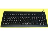 Best Quality, High Visibility, White on Black Keyboard