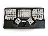 Maltron, Ergonomic Two-Handed Trackball Keyboard Black USB
