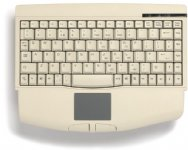 Mini keyboard, Beige, PS/2 with built in Touchpad