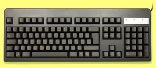 WE41B0 - French Topre Realforce 105UB 45g Light Gold on Black Keyboard