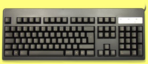 WE31B0 - German Topre Realforce 105UB 45g Light Gold on Black Keyboard