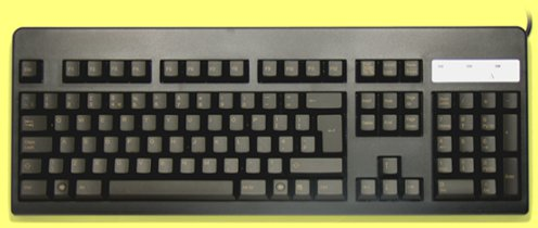 WE21B0 - UK Topre Realforce 105UB 45g Light Gold on Black Keyboard
