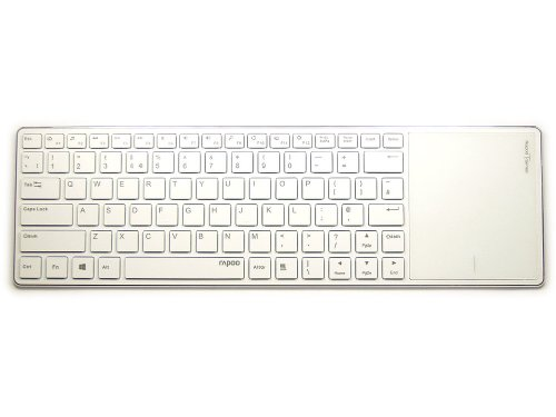 E6700W - Ultra Slim White Bluetooth Touchpad Keyboard