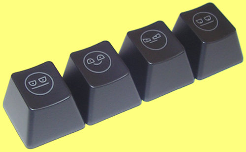 KCP006 - Cherry MX Unamused Face Keycap Set