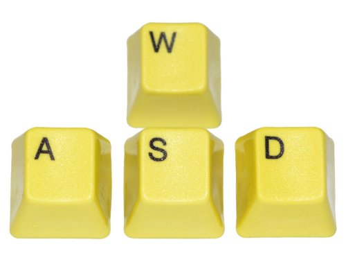 UNI-WASD-YELLOW - Unicomp Yellow WASD Keyset