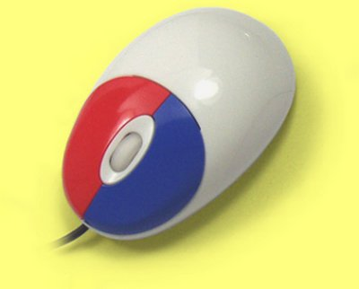 EL1-LM1-W - Mini Multi-Coloured Optical Scroll Mouse, White