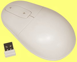 SWM7W - SILVER SEAL White Wireless Laser Mouse Waterproof and Antimicrobial