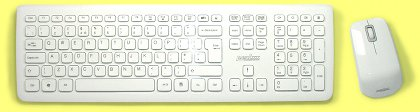KBC-PERI-703W - Piano White Wireless Keyboard and Mouse Set