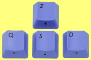 PLS163 - Filco Blue ZQSD Keys for Cherry MX Switches (French WASD)