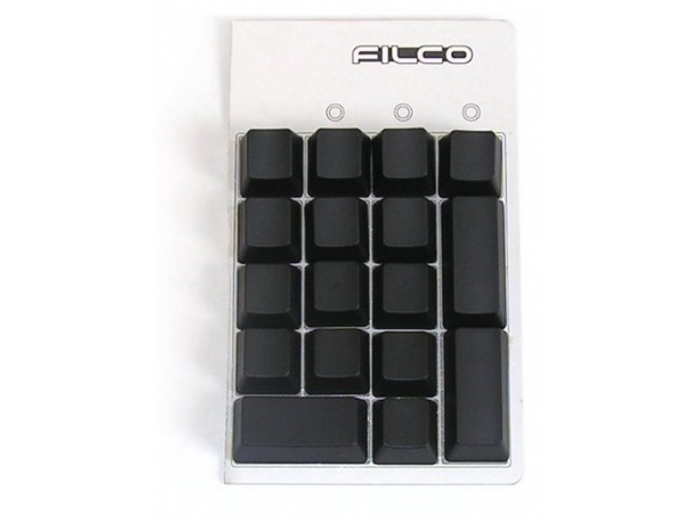 Blank, Black Filco 17 Key Keypad Keyset
