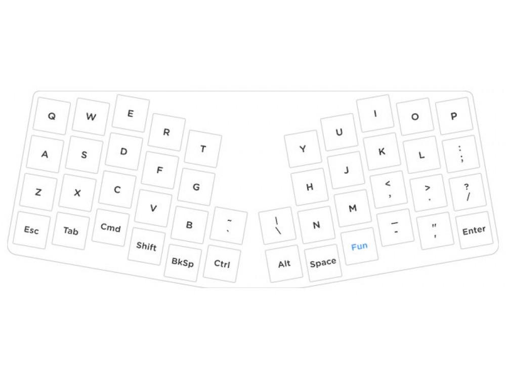 USA Keyboardio Atreus Super Mini Ergonomic Click Mechanical Keyboard