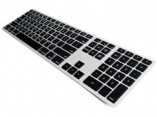 USA Matias Bluetooth Aluminum Backlit Keyboard Silver