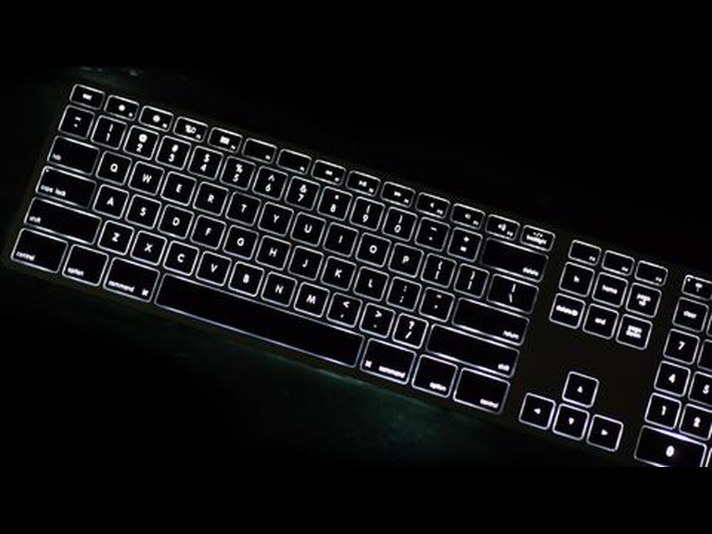 USA Matias Bluetooth Aluminum Backlit Keyboard Space Gray