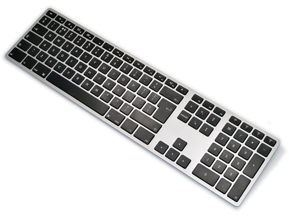 UK Matias Bluetooth Aluminum Backlit Keyboard Space Gray, picture 1