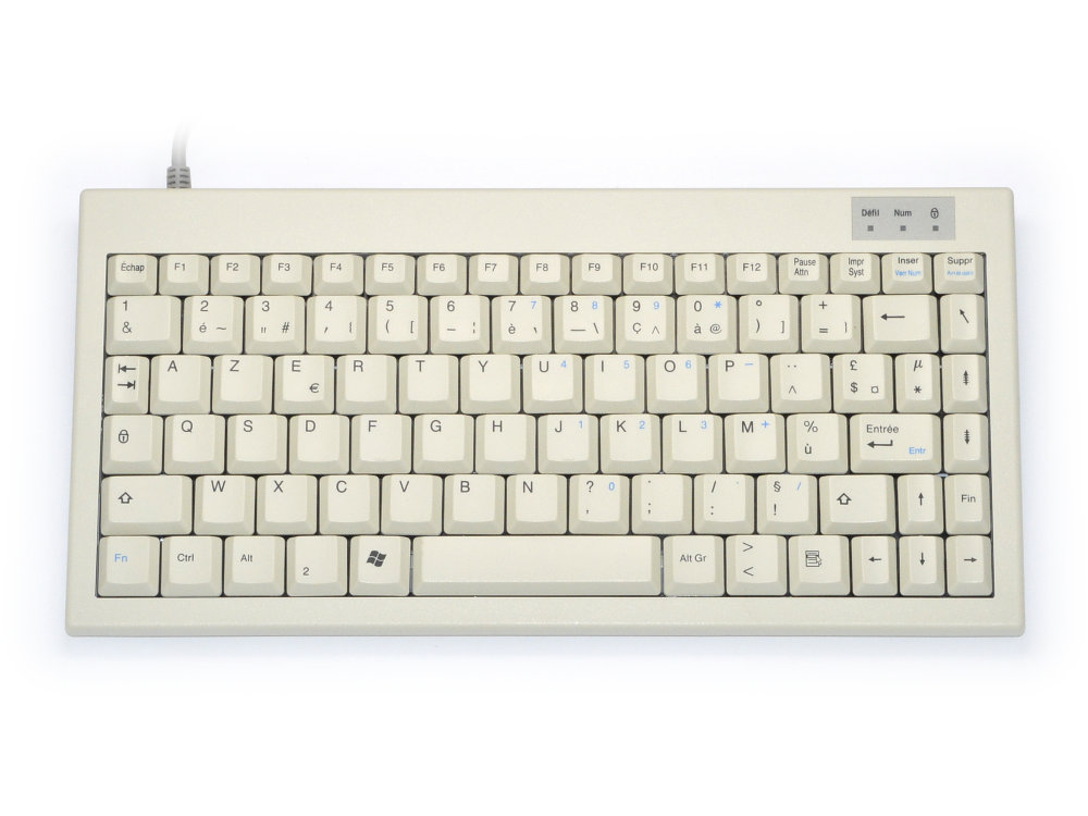 Mini keyboard, Beige, PS/2, French, picture 1