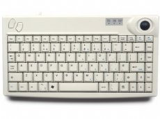 Mini keyboard, white, PS/2 with built in Trackball