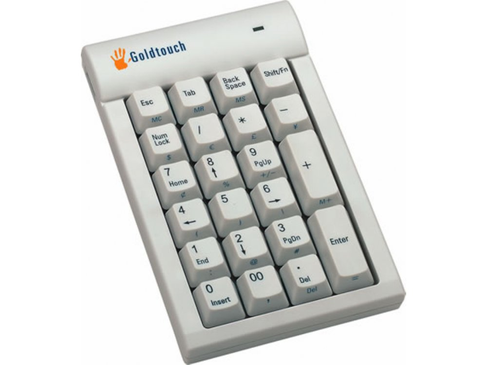 Beige USB GoldTouch Hub Keypad