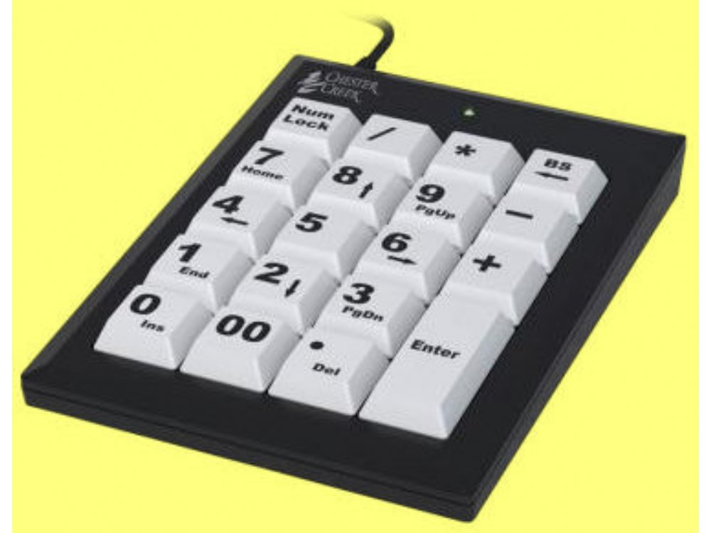 Large Key Keypad Black USB, picture 1